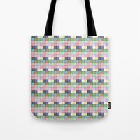 stained glass Tote Bags featuring Stained Glass by Ana Guillén Fernández