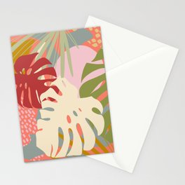 Monstera Party #tropicalvibes Stationery Cards