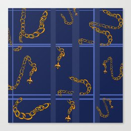 Unchained: Blue + Gold Canvas Print