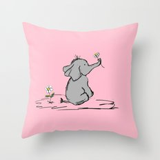 Jessica Elephant Throw Pillow