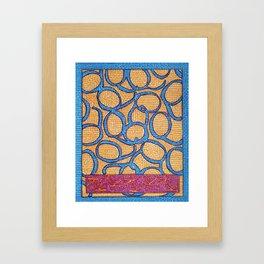 Plunja- Goddess of water reflections Framed Art Print