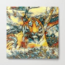 AnimalArt_Tiger_20171202_by_JAMColorsSpecial Metal Print