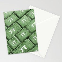 Pi Grunge Style Pattern Stationery Cards