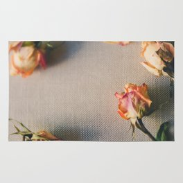 Dried Roses Are Beautiful Too Rug