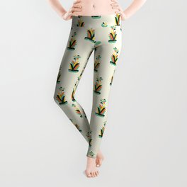 Exotic geometric plant Leggings