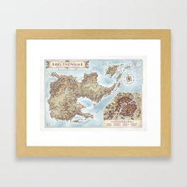 Belthennia - a map of its Independent Territories Framed Art Print