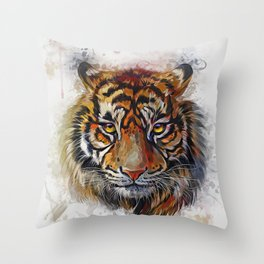 Tigers Eyes Throw Pillow