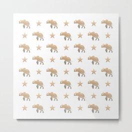 ELEPHANT & STARS Metal Print