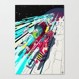 Faster than GAME OVER v1.0 +ART PRINT DESIGN+ Canvas Print