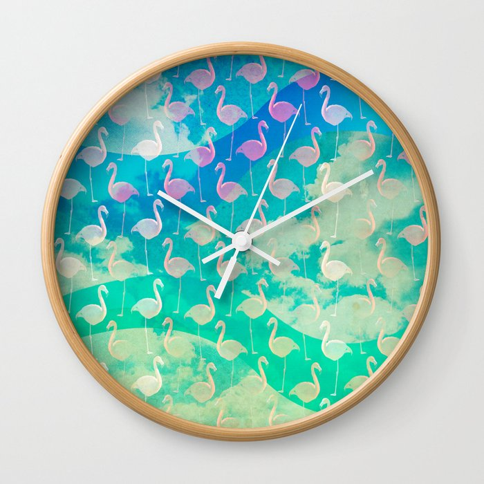 Flamingo Dream Wall Clock
