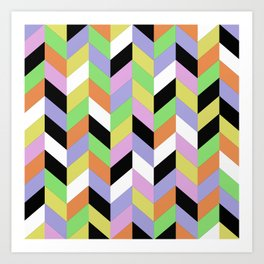 Stacked Colour Art Print