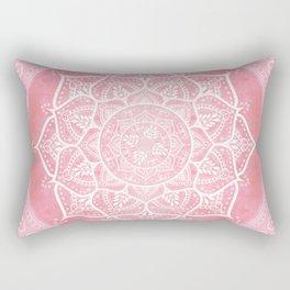 Bohemian Blush Pink & Teal Mandala Rectangular Pillow