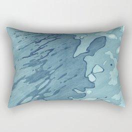 Aqua Shoreline Rectangular Pillow