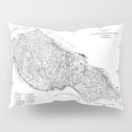 Santa Cruz Surf Map, 1938 Map featuring all the best surf spots! Surf Art & Home Decor Pillow Sham
