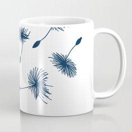 Wispy Blue Dandelion Seeds Blowing in the Breeze Coffee Mug