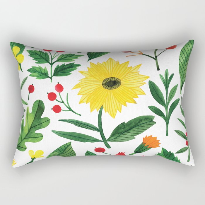Botanic Watercolor Collection #16 Rectangular Pillow