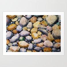beach stones Art Print