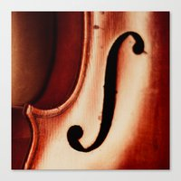 violin Canvas Prints featuring Violin by Maite Pons