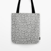 stark Tote Bags featuring Stark Circles by SonyaDeHart