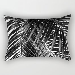 Tropical Vibes | Black and White Rectangular Pillow