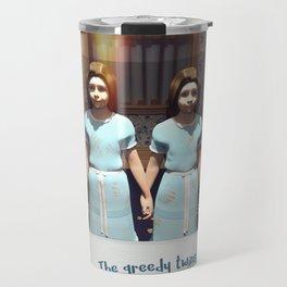 The greedy twins! Travel Mug