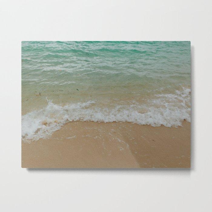 Turquoise Waves Metal Print