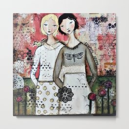 Sisters by Croppin' Spree Metal Print