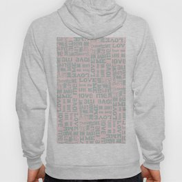 Valentine Love Me Typography Pattern - Mix & Match with Simplicty of life Hoody