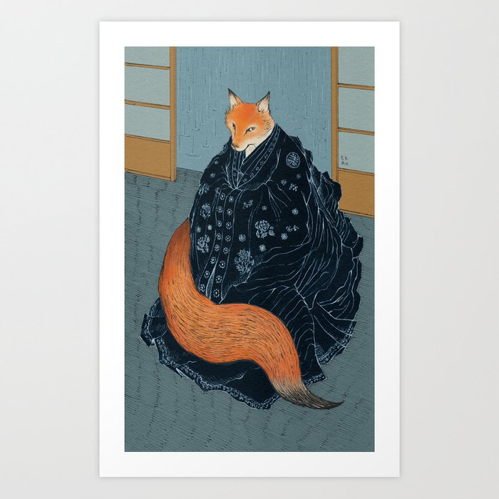 Fox S Wedding.The Fox S Wedding Art Print