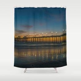 Pier Lights at Dusk Shower Curtain
