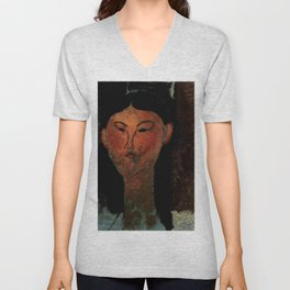 "Amedeo Modigliani ""Beatrice Hastings"" (1915) Unisex V-Neck"
