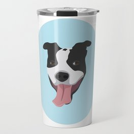 Smiley Pitbull Travel Mug