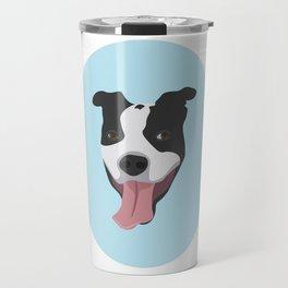 Smiley Pitbull Travel Mug