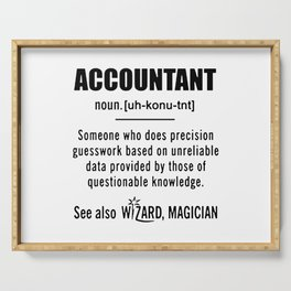 Accountant Gifts Accountant Definition Serving Tray