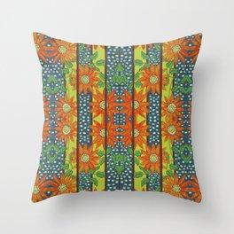 Summer Flowers By Danae Anastasiou Throw Pillow