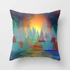 Alpine Sunset Throw Pillow