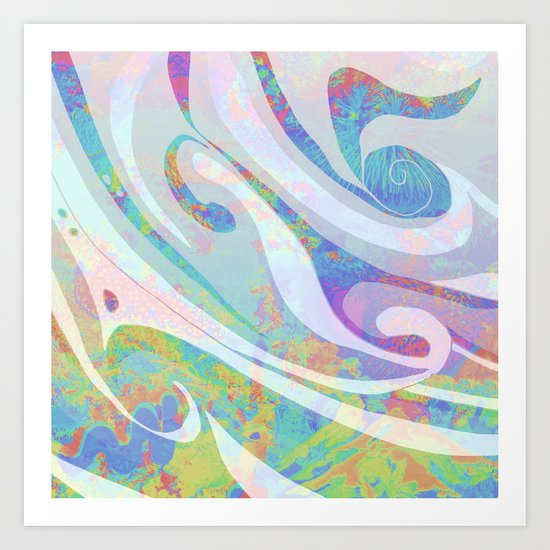 Abstract Colors Waves Design Art Print