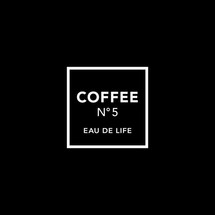 Black Coffee No5 Duvet Cover