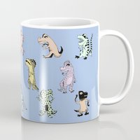 dinosaurs Mugs featuring Dinosaurs by BlandinePannequin