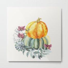 Pretty Pumpkins Metal Print