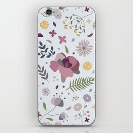 Floral mood iPhone Skin