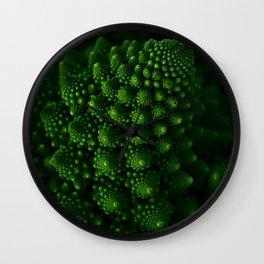 Macro Romanesco Broccoli - Low Key Wall Clock