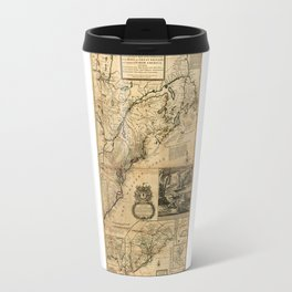 Map of North America (British Colonies) 1731 Travel Mug