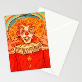 clown check Stationery Cards
