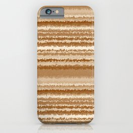 Tones of Brown Abstract Lines iPhone Case