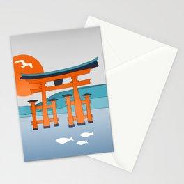 Japanese Shinto at Morning Stationery Cards