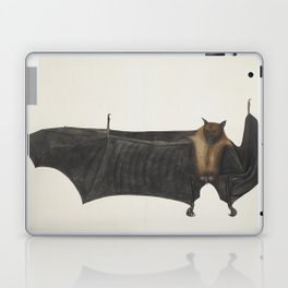 Antique bat vintage nature book plate drawing victorian art nouveau steampunk oddities emo goth Laptop & iPad Skin