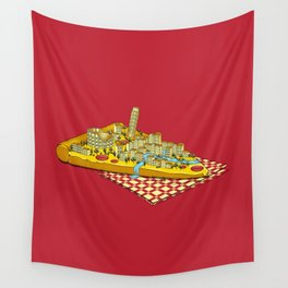 Hungry for Travels: Slice of Italy Wall Tapestry