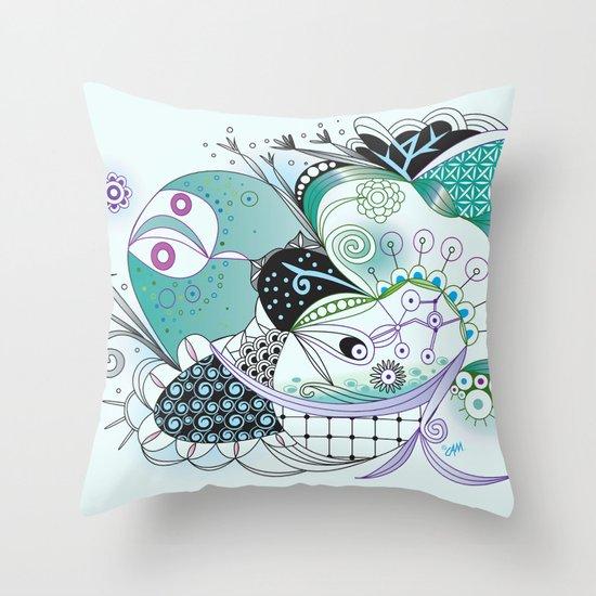 Winter tangle Throw Pillow