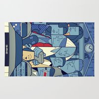 back to the future Area & Throw Rugs featuring Back to the Future by Ale Giorgini